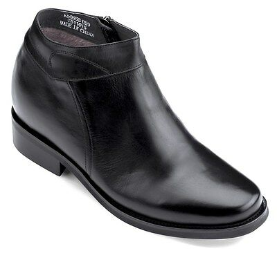 CALDEN K50658 - 3.2 Inches Elevator Height Increase Round Toe Ankle Zipper Boot