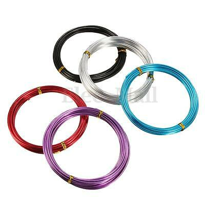 1 Roll Coloured 1.0/1.5/2.0mm Aluminum Wrap Craft Art Wire Jewellery Making 5M