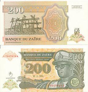 Zaire-200-NEW-Zaire-1994-UNC-Pick-61