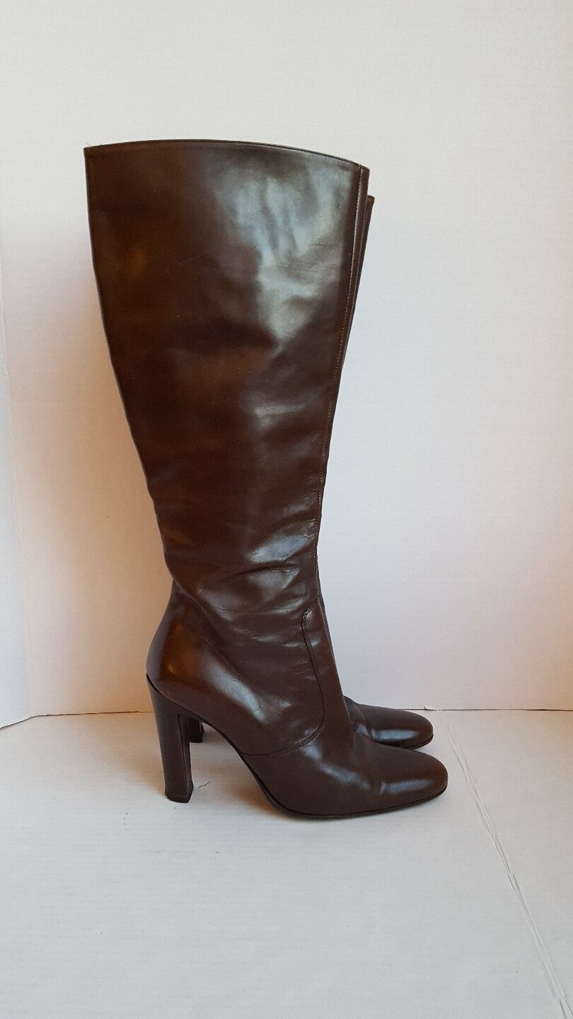 CO-OP BARNEYS NYC WOMEN'S BROWN BROWN WOMEN'S LEATHER KNEE HIGH Stiefel 37 a449bd