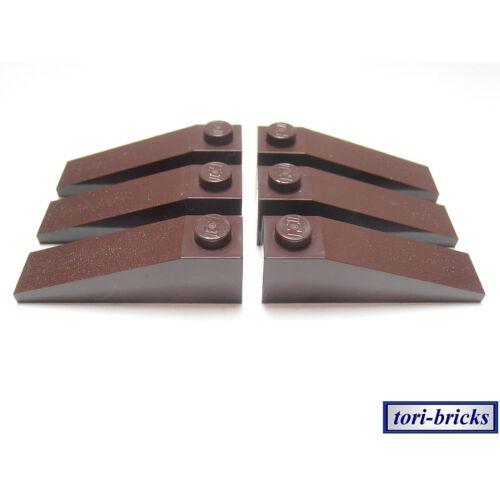 Slope 18 4x1 dunkel braun 6 Stück »NEU« # 60477 Lego Dachstein