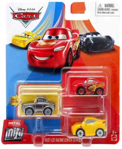 Pixar Cars Die Cast Mini Racers Rust-Eze Racing Center Car 3-Pack Disney