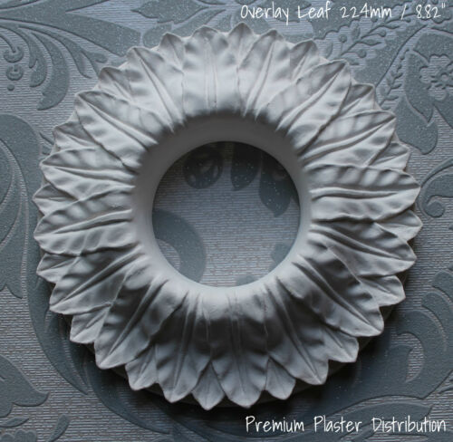"""Plâtre De Plafond Rose diamètre 224 mm//8.82/"""" overlayleaf"""