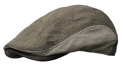 STETSON LINEN GATSBY Cap Brown Grey Newsboy Ivy Hat Cotton Golf Driving Cabbie