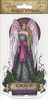 GRACE Angel Virtues Sticker Car Decal Jessica Galbreth fairy faery faerie