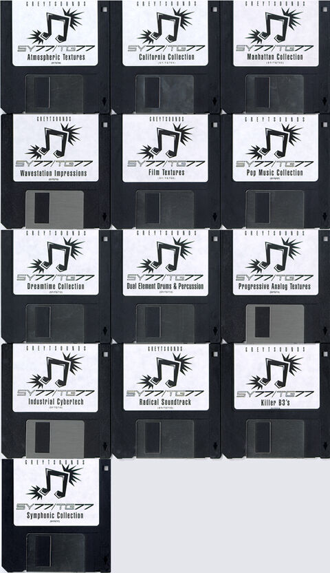 Yamaha SY TG 77 Synth Patches - 13 Disk Set