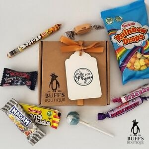 Image Is Loading PETITE Retro Sweet Hamper Selection Gift Box Present