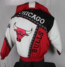 NEW Chicago Bulls Vintage 90's Pro Player Zip Jacket Medium Starter Jordan