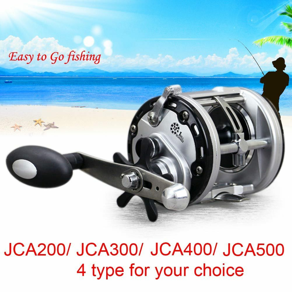 13BB Trolling Reel Saltwater Sea Fishing Conventional Reels Right Hand Drum JCA