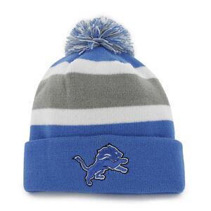 47547de2a51 Detroit Lions 47 Brand Knit Hat Breakaway Cuff Cap 673106711073
