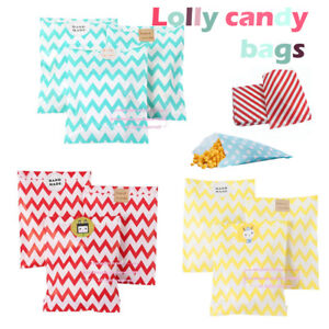 Details About Personalised Candy Striped Polka Dot Sweet Wedding Favour Birthday Bags Uk