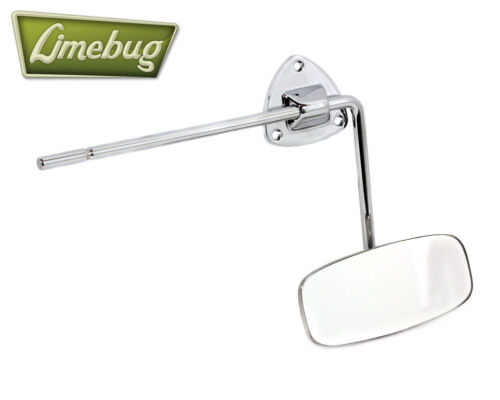 VW Oval Classic 1953-57 Polished Chrome Rear View Mirror for Early Beetle T1 Bug