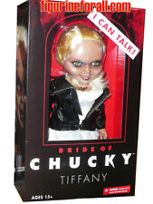 "BRIDE OF CHUCKY TALKING TIFFANY 15"" MEGA SCALE DOLL Sound Child's Play NEW MEZCO"