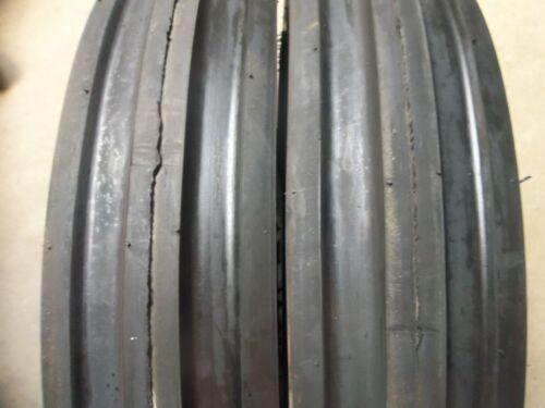 TWO 600x16,600-16,6.00-16 ALLIS CALMERS Thorn Resistant Triple Rib Tires w//Tubes