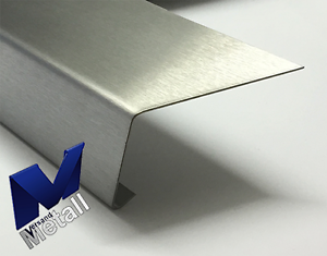 2,0m Stainless Steel Angle 110 ° with Drip Edge L 2000mm 1.4301 External Touch K320