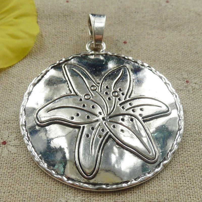 Free Ship 8 pieces tibetan silver round tree charms pendant 71x56mm L-4681