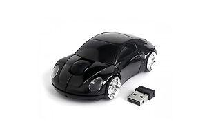 Porsche Voiture Optique Sans Fil Silent Mouse Portable Mini couleur noire