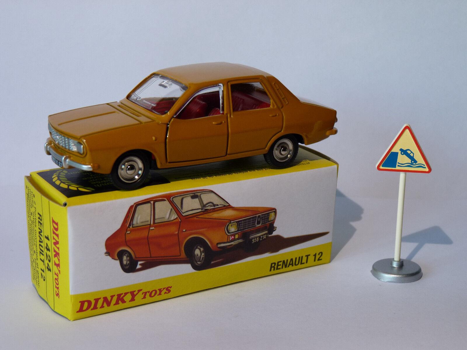 Renault 12   R12 - ref 1424 au 1 43 dinky toys atlas