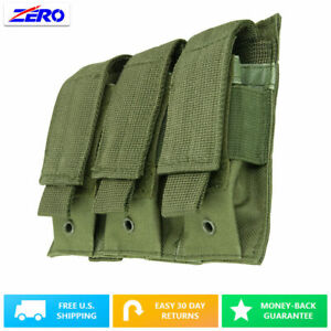 Green-Triple-Double-Stack-Pistol-Magazines-Pouch-MOLLE-PALS-Adjustable-Flaps
