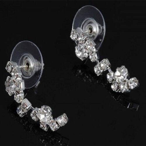 1Set Braut Schmuck Schmuckset Collier Kette Ohrringe Kristall Hochzeit-Beiläufig