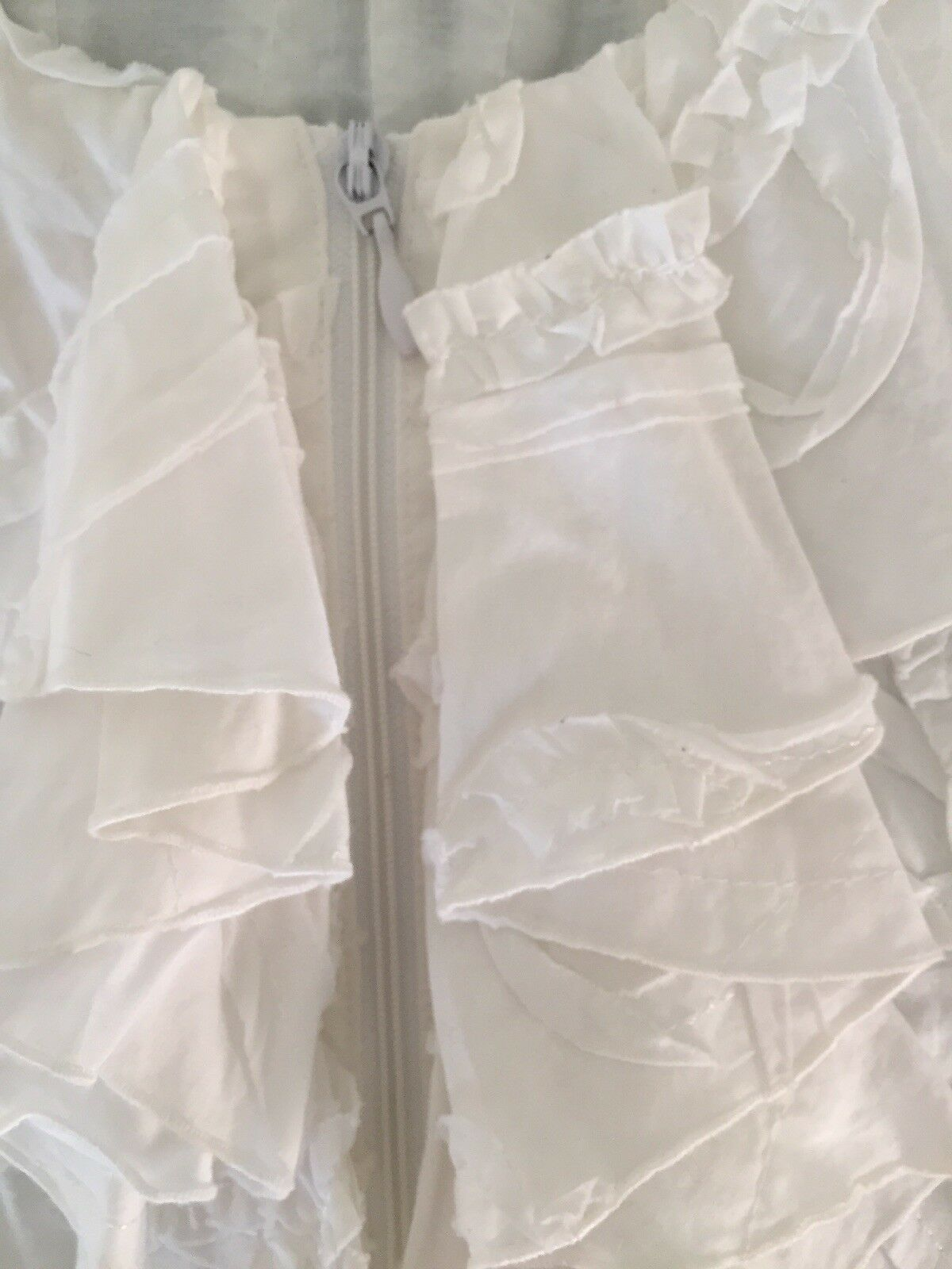Anne Fontaine White Ruffled Blouse-Sz.4 - image 5