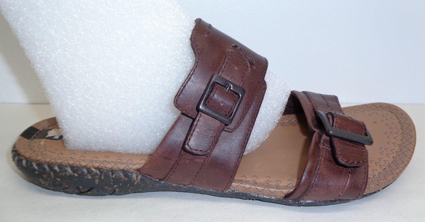 Merrell Größe 7 WHISPER SLIDE Braun Leder Slides Sandales NEU Damenschuhe Schuhes