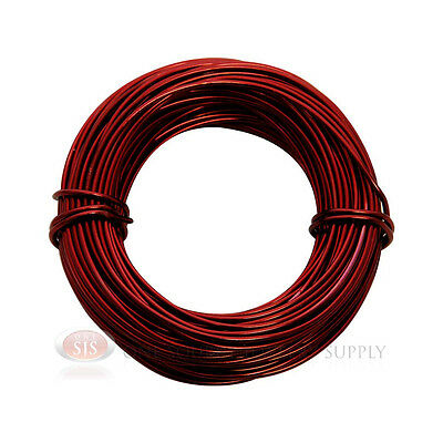 Blood Red Aluminum Craft Wire 18 Gauge 39 Feet 11.8 Meters Wrapping Sculpture