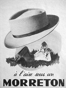 Sous Un A L'aise Chapeau Publicité MorretonEbay k8n0OXwP