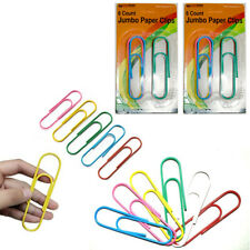 12 Extra Large Paper Clips 4 Jumbo Assorted Colors Coated Crafts School Office