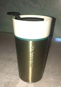 Starbucks 12 fl oz Stainless Steel Ceramic Travel Tumbler Cup coffee