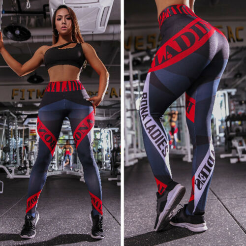 Womens Fitness Yoga Leggings Butt LIft Gym Pants Stretch Floral Sports Trousers