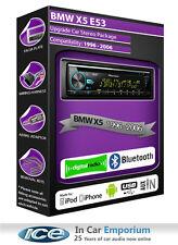 BMW x5 e53 DAB Radio, PIONEER STEREO LETTORE CD USB AUX, KIT Bluetooth Vivavoce