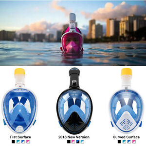 Anti-Fog-Full-Face-Mask-Swimming-Breath-Dry-Diving-Goggle-Snorkel-Scuba-Glass-US