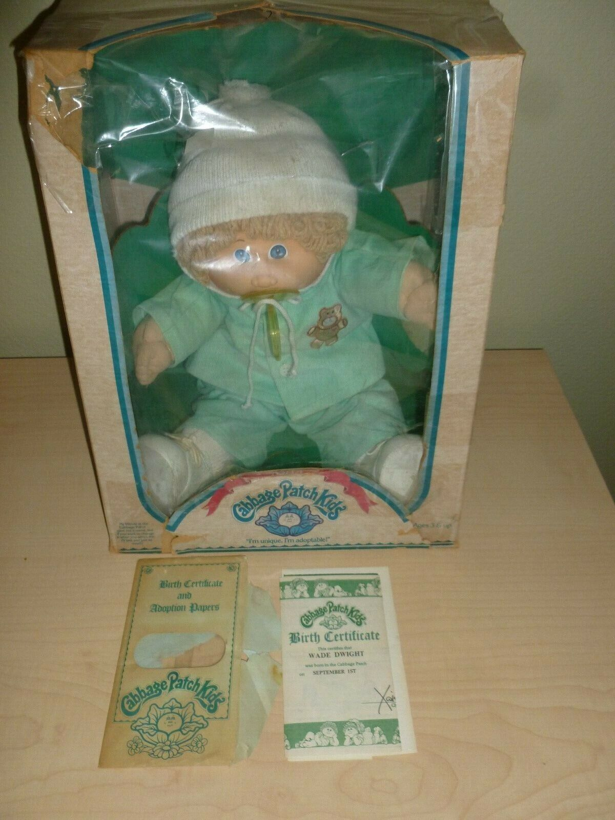 1984 CABBAGE PATCH KID  WADE DWIGHT   Brand New  Original Box w Papers  FREE S&H