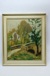 Painting-by-detwang-with-Bridge-Willi-Foerster-Rothenburg