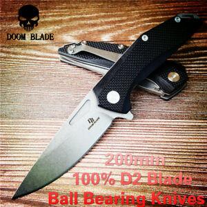 Ball-Bearing-Knive-Folding-Pocket-Knife-60HRC-G10-Hunting-Survival-Tactical-Hand