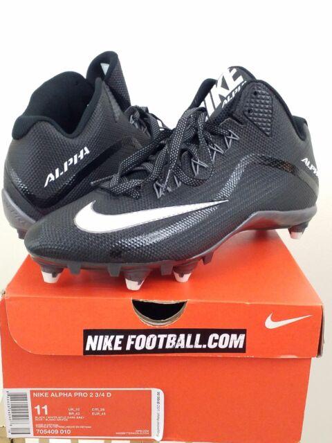 NIKE ALPHA PRO 2 34 D MEN'S FOOTBALL CLEATS 705409 410 D MSRP $100