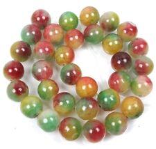 "12mm Watermelon Candy Jade Round Beads 15"""