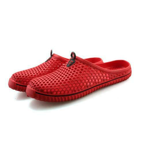 Unisex Mesh Slippers Breathable Casual Beach Shoes Garden Clogs Shoes Holes