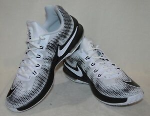 Nike Air Max Infuriate Low White//Black//Grey Men/'s Basketball Shoes-Size 10.5 NWB