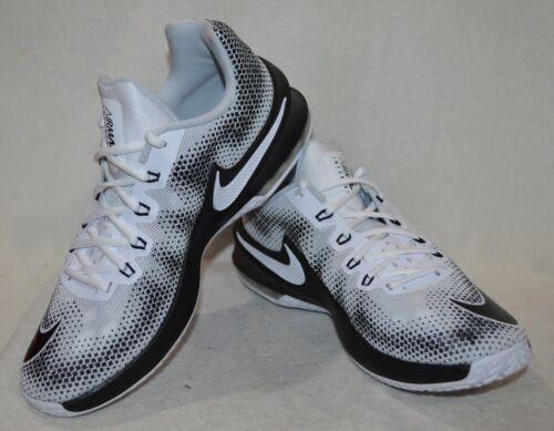 Nike Air Max Infuriate Low White//Black//Grey Men/'s Basketball Shoes-Size 10.5 NWB