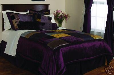 Milan Eggplant Cal-King Comforter Bedding Set