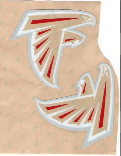 Atlanta Falcons Full Size FOOTBALL HELMET DECALS WITH BUMPERS