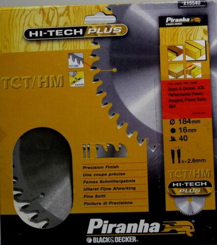 Piranha Kreissägeblatt TCT//HM X15540 HI-TECH PLUS 184 mm