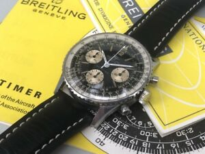 BREITLING-Navitimer-806-Chronograph-Venus-178-Vintage-1966-Rare-Box-amp-Papers
