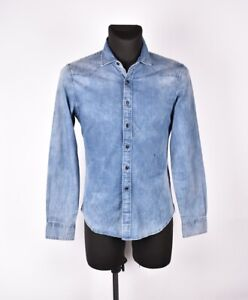 REPLAY-Jeans-Men-Shirt-Size-Fits-S