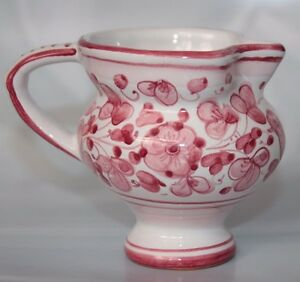 Dipinto-A-Mano-Red-Bird-Italy-Pottery-Creamer-MILK-JUG-Pitcher-SKU17009