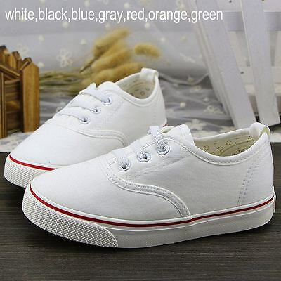 Baby Kids Children Casual Breathable Canvas Shoes for Boy Girl Plimsolls Sneaker