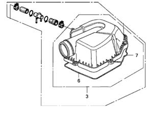 Genuine Honda Air Cleaner Cover Upper OEM 06172PRA307