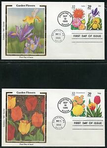 UNITED-STATES-COLORANO-1993-SET-OF-FIVE-GARDEN-FLOWERS-FIRST-DAY-COVERS